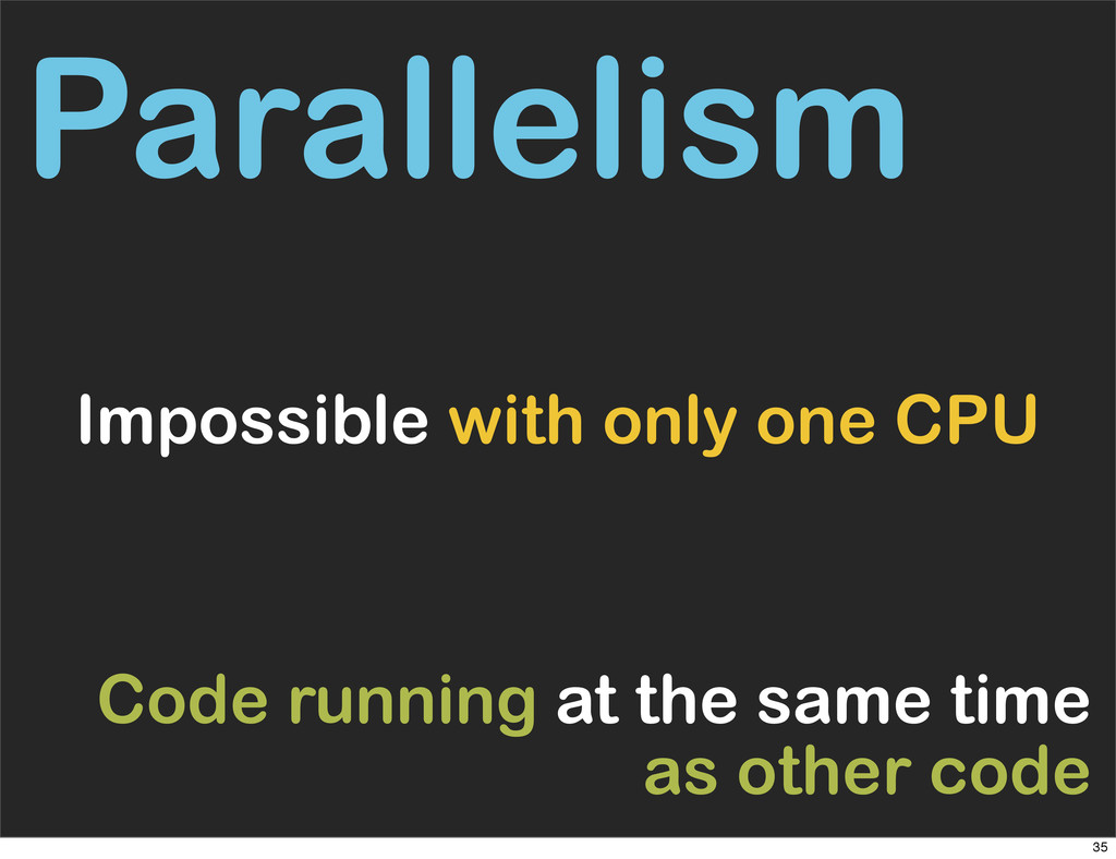 Parallelism Impossible with only one CPU Code r...