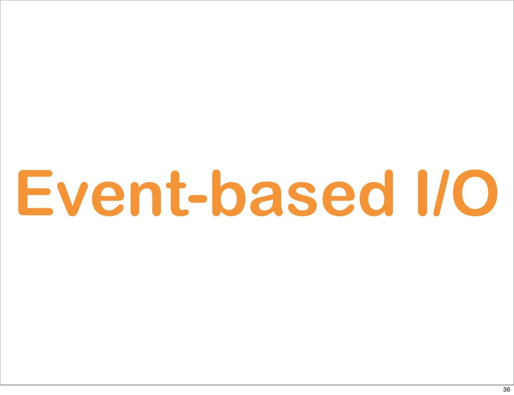 Event-based I/O 36