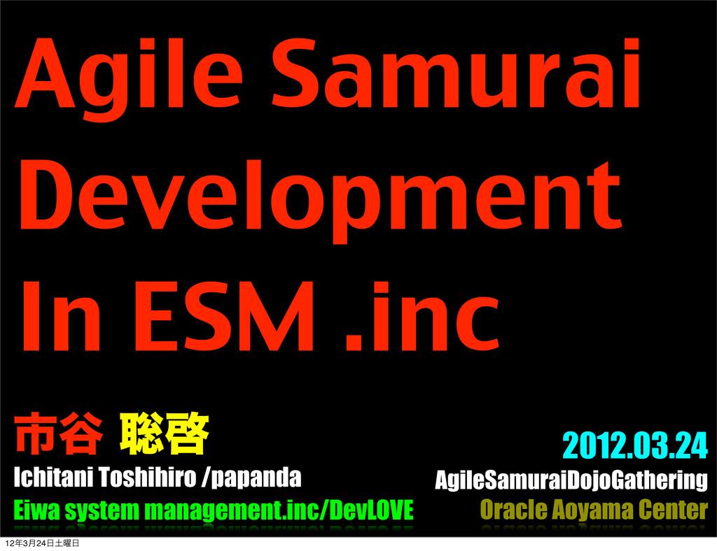 Ichitani Toshihiro /papanda 2012.03.24 AgileSam...