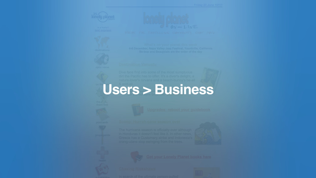 Users > Business