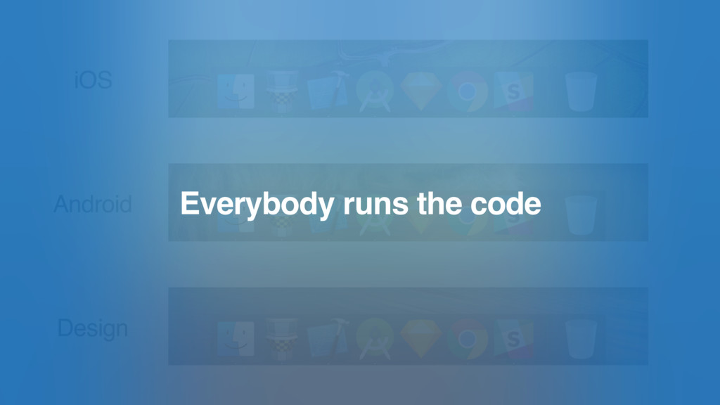iOS Android Design Everybody runs the code