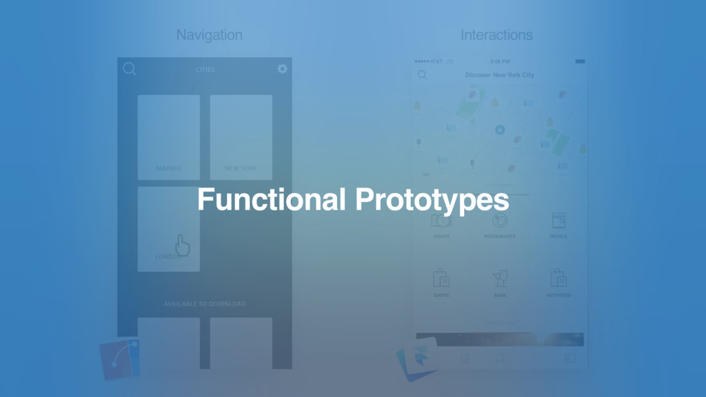 Navigation Interactions Functional Prototypes