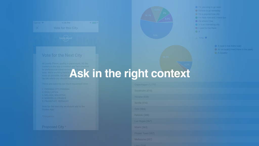 Ask in the right context
