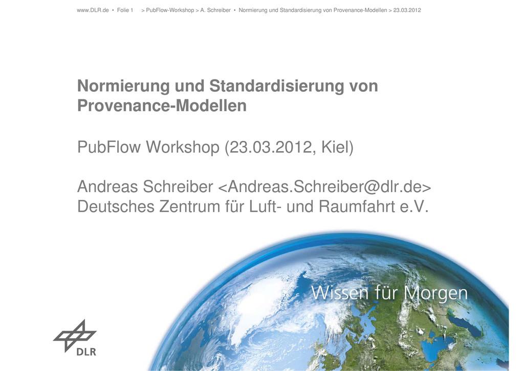 Normierung und Standardisierung von Provenance-...