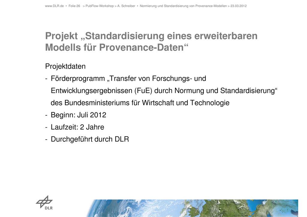 """Projekt """"Standardisierung eines erweiterbaren M..."""