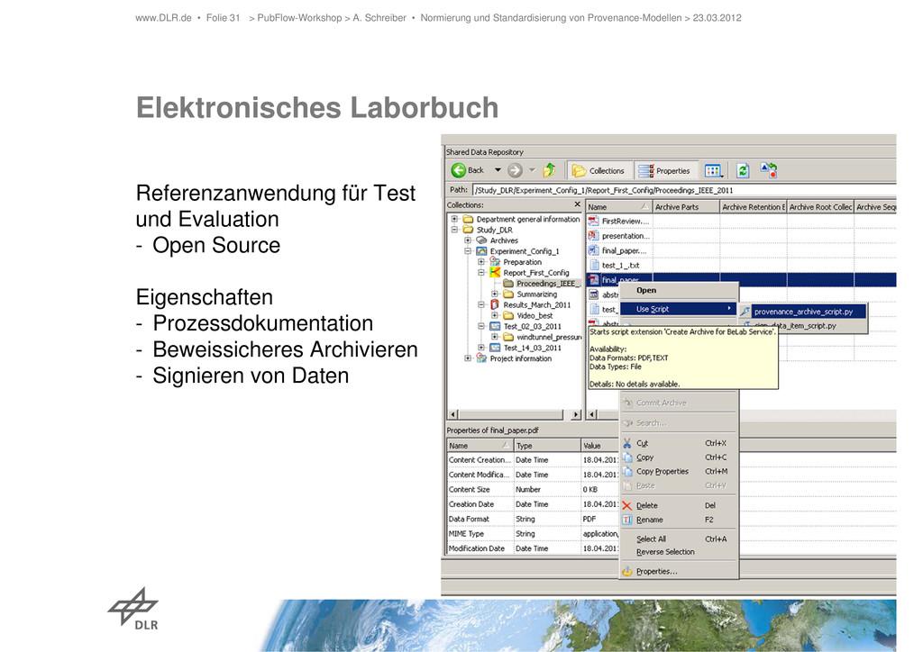 Elektronisches Laborbuch Referenzanwendung für ...