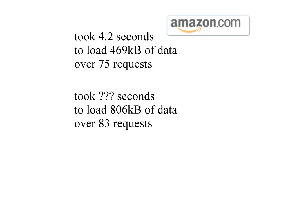 took 4.2 seconds to load 469kB of data over 75 ...