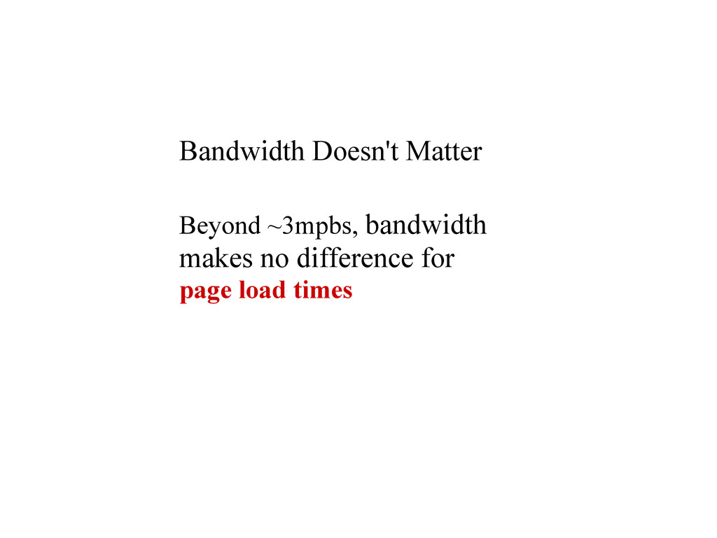 Bandwidth Doesn't Matter Beyond ~3mpbs, bandwid...