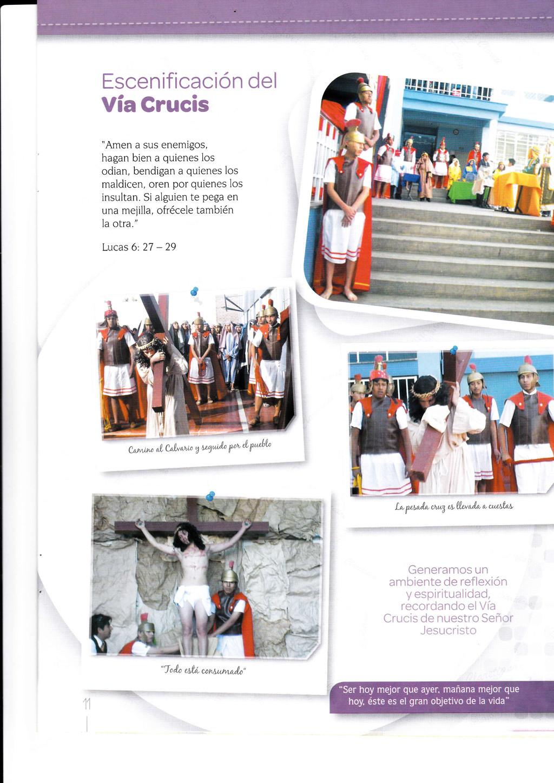 """Escenificación del Vía Crucis """"Amen a sus enemi..."""
