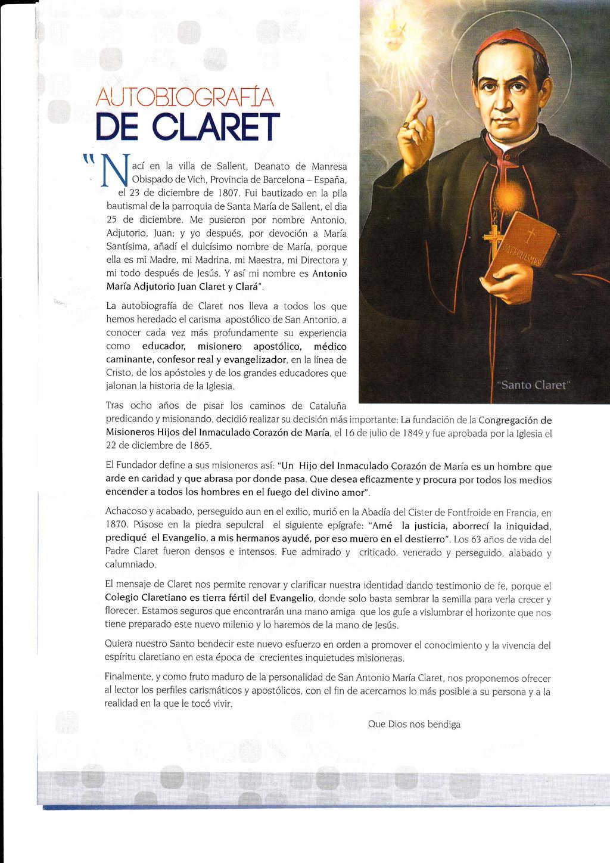 "1t AtJTÜSiOGRAFIA DE CLARET NIai,fi J:.""JY.f :,..."