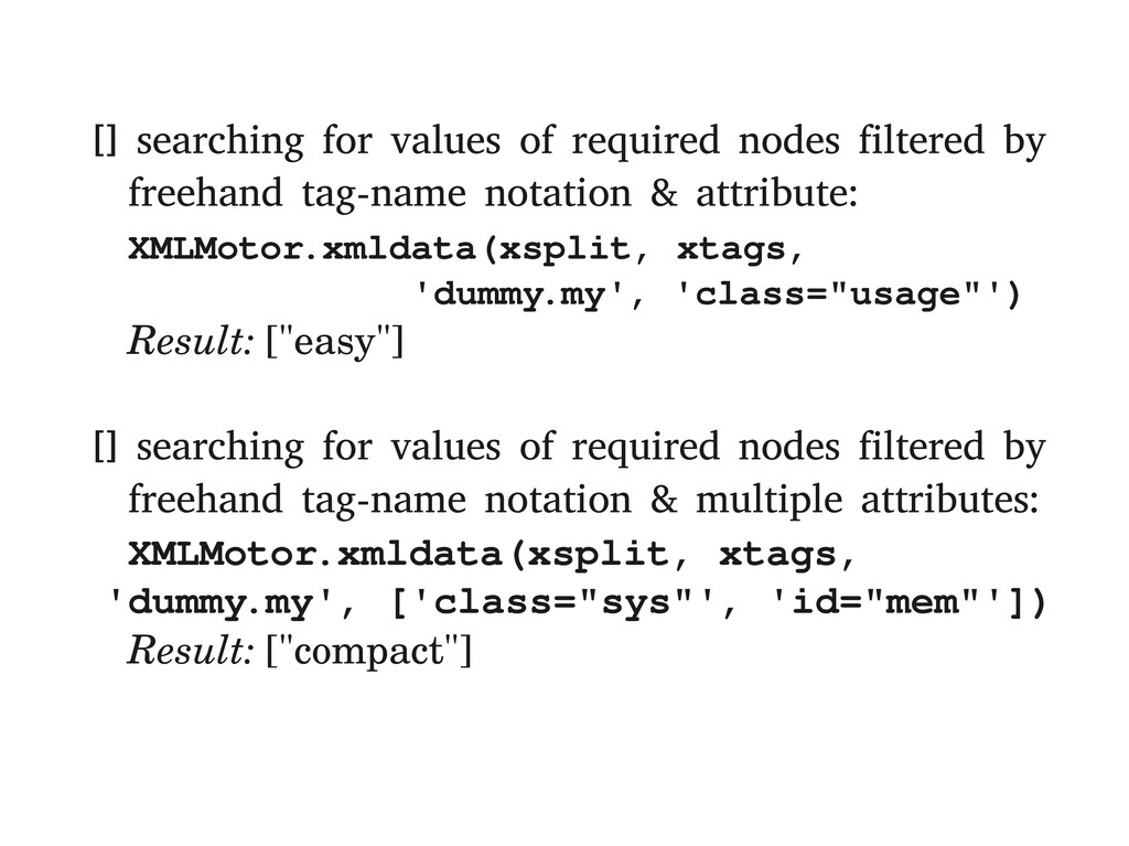 [] searching for values of required nodes filte...