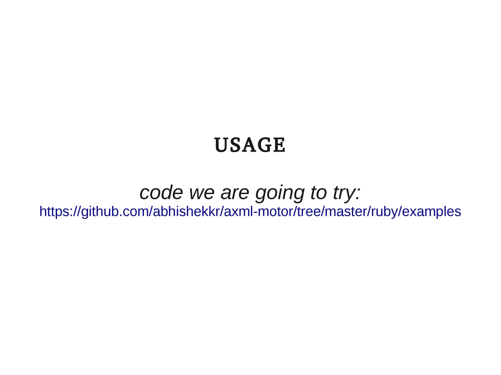 USAGE code we are going to try: https://github....