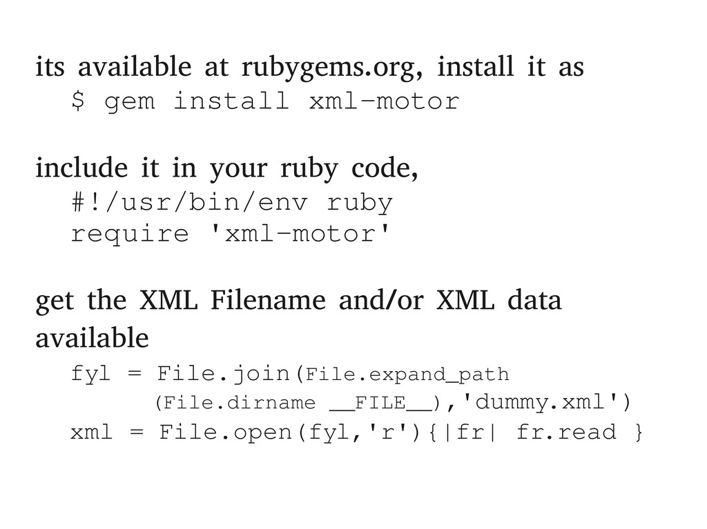 its available at rubygems.org, install it as $ ...