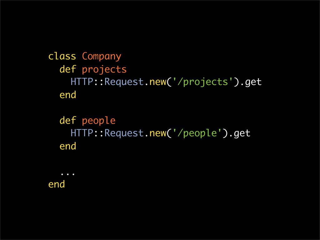 class Company def projects HTTP::Request.new('/...