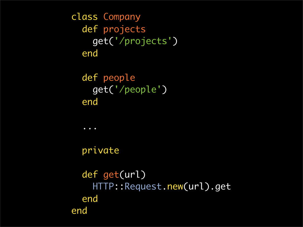 class Company def projects get('/projects') end...