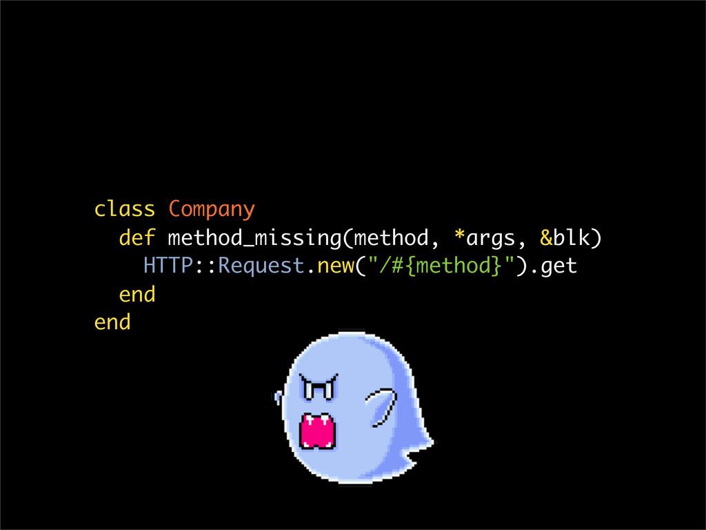 class Company def method_missing(method, *args,...