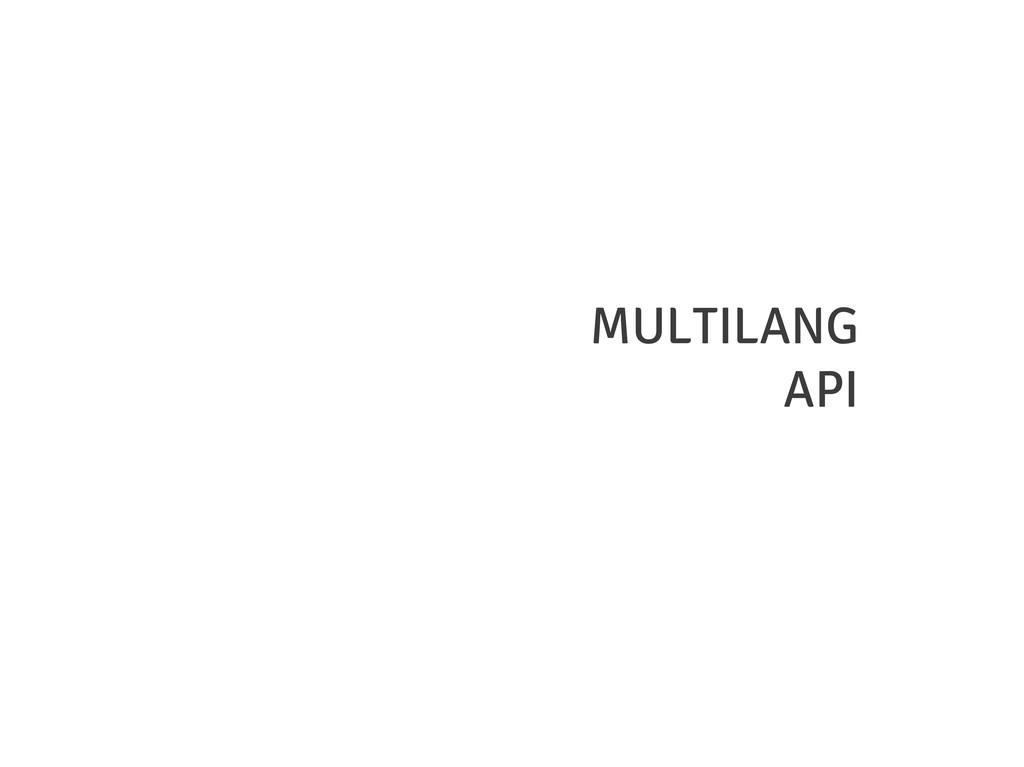 MULTILANG API