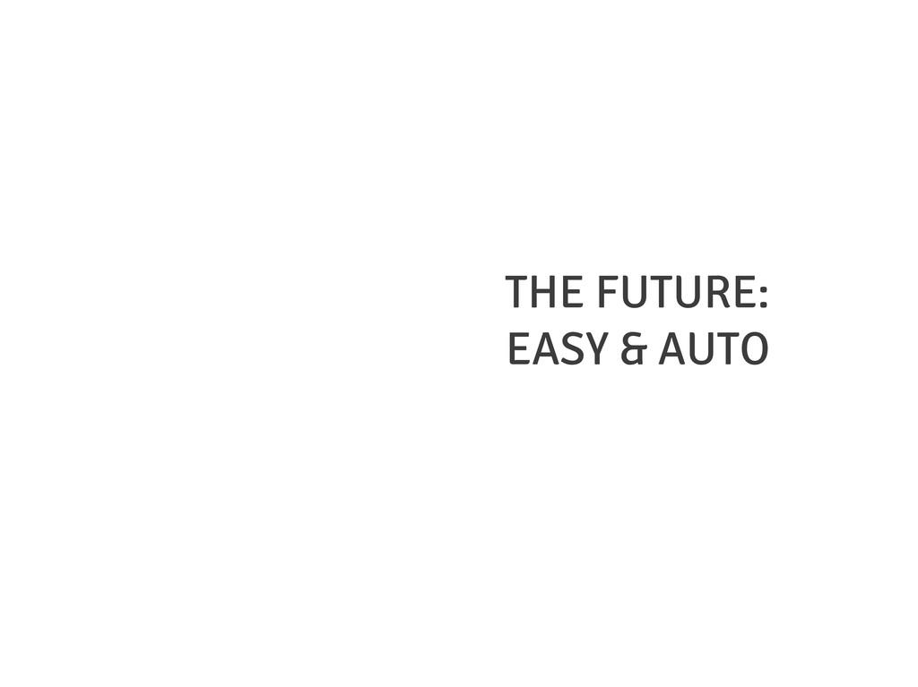 THE FUTURE: EASY & AUTO