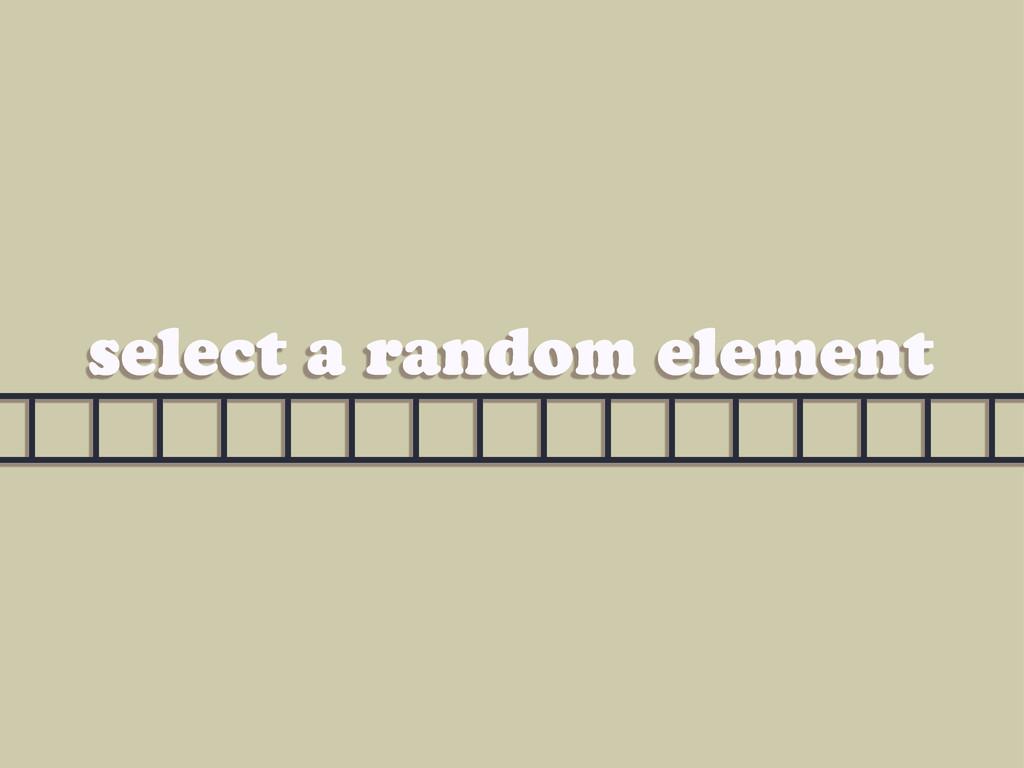 select a random element