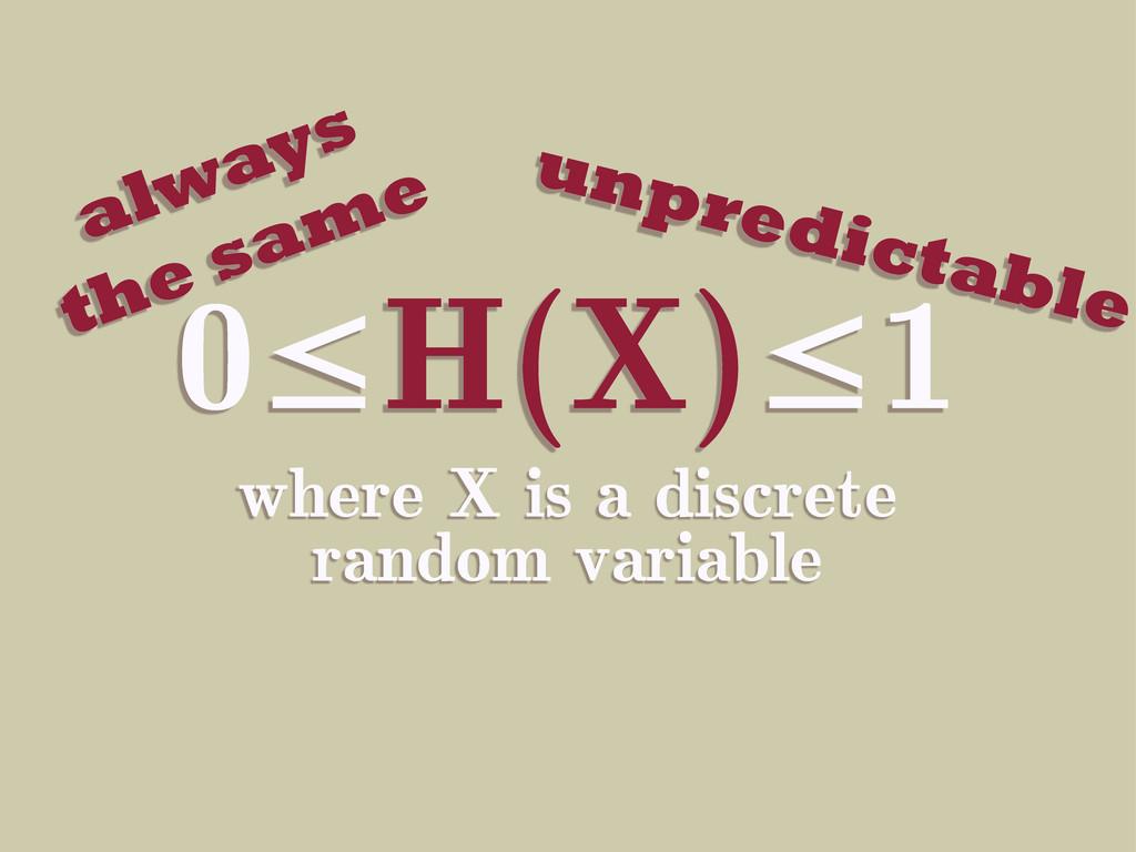 0≤H(X)≤1 where X is a discrete random variable ...