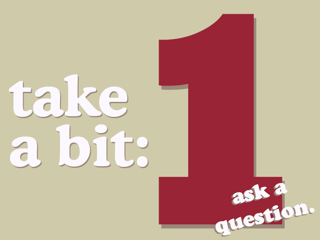 ask a question.