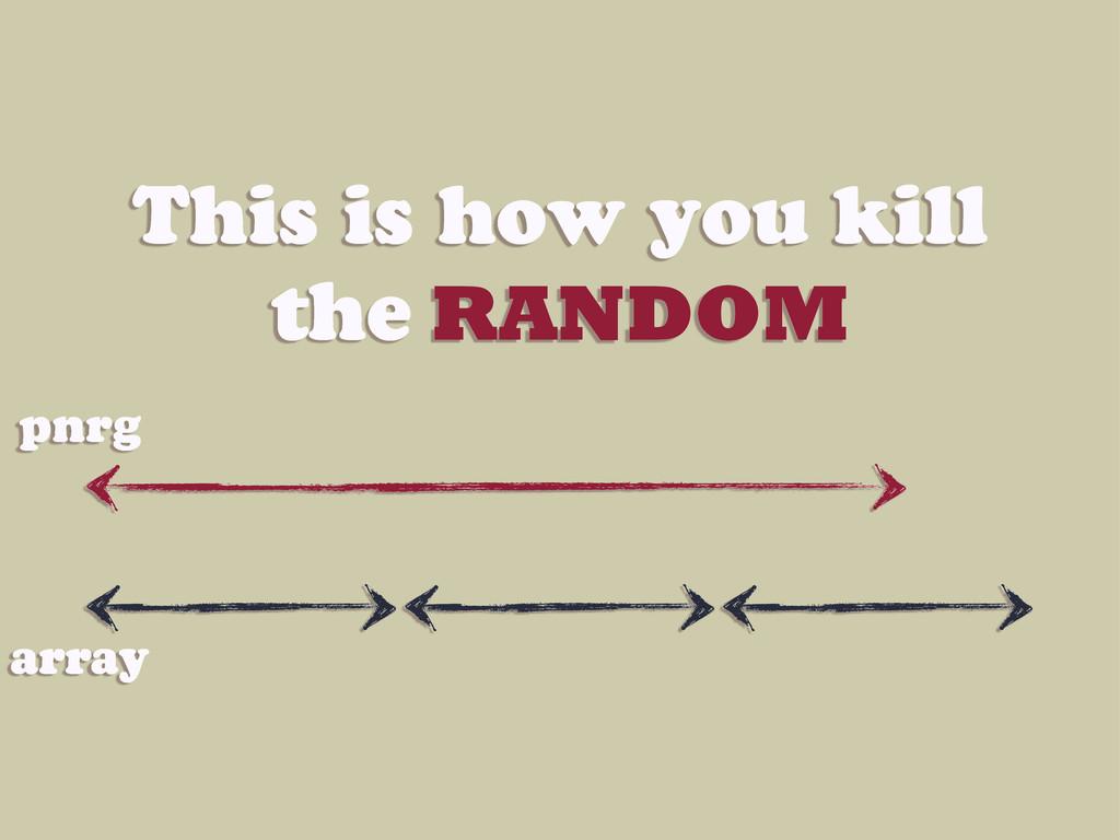 This is how you kill the RANDOM pnrg array