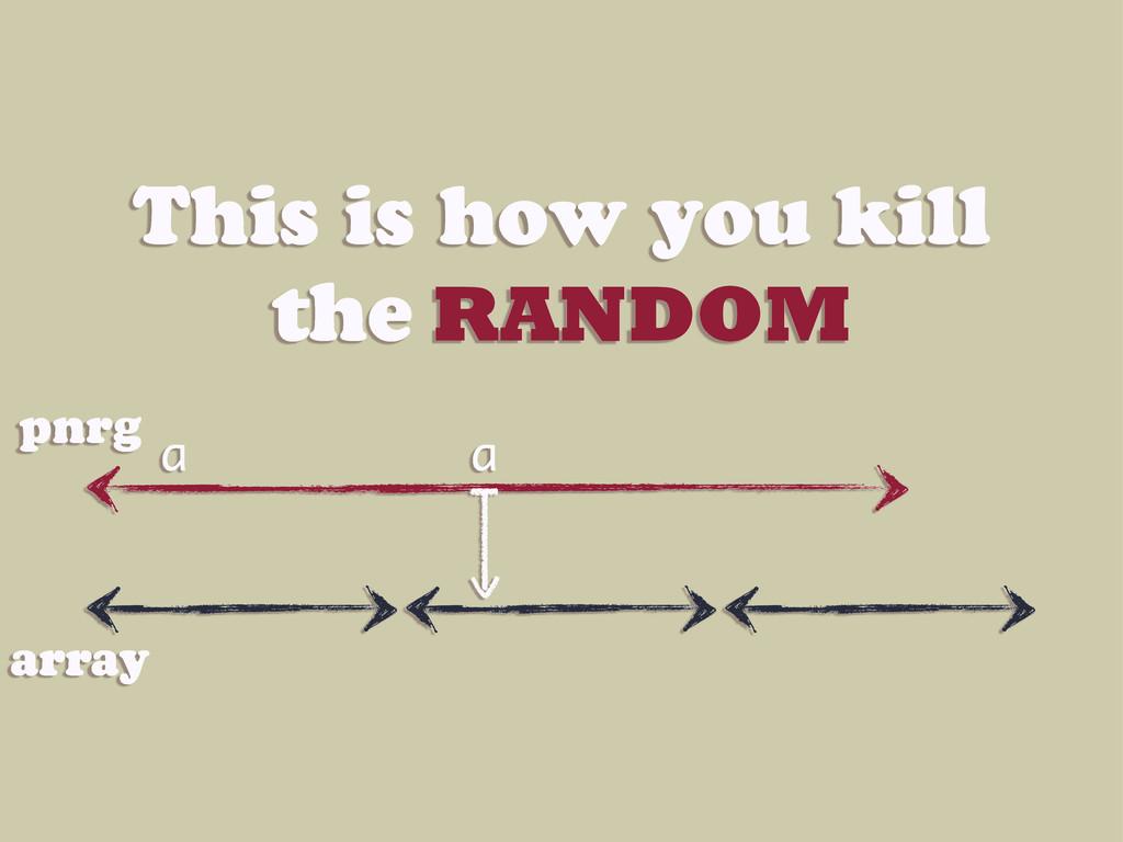 This is how you kill the RANDOM a a pnrg array