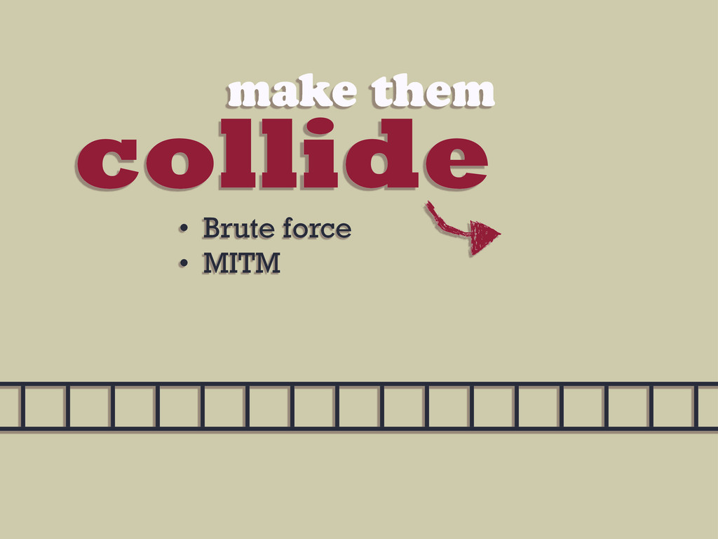 collide make them • Brute force • MITM