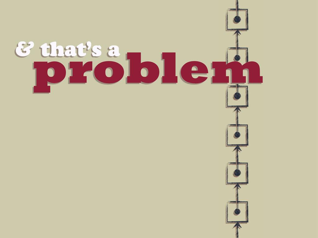 problem & that's a