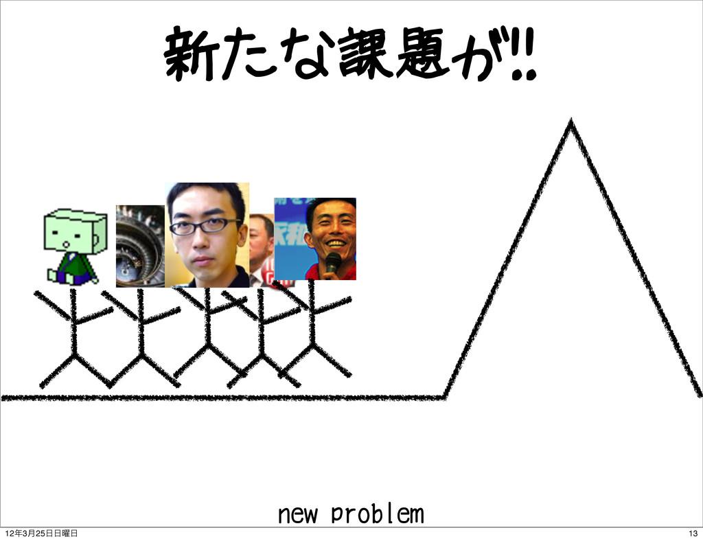 新たな課題が!! new problem 13 123݄25༵