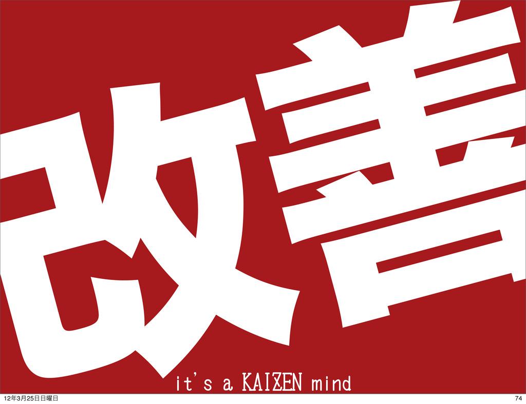 վળ it's a KAIZEN mind 74 123݄25༵