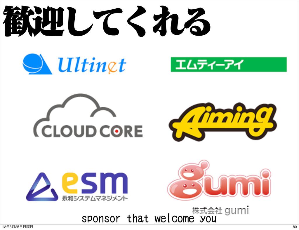 ܴͯ͘͠ΕΔ sponsor that welcome you 80 123݄25༵