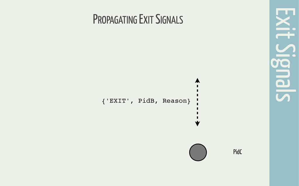 PROPAGATING EXIT SIGNALS Exit Signals PidC {'EX...