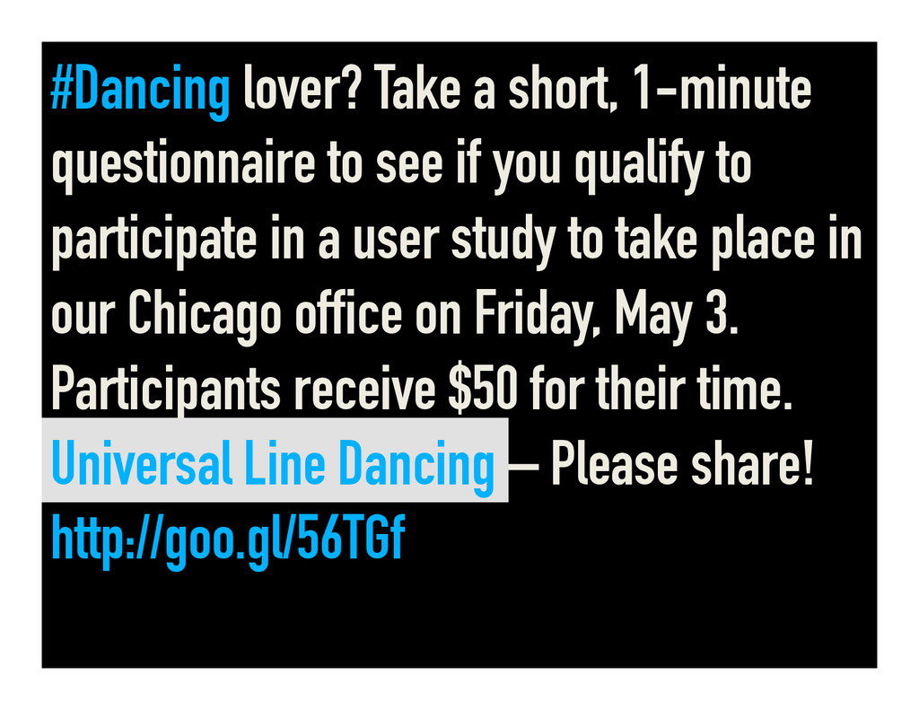 #Dancing lover? Take a short, 1-minute question...