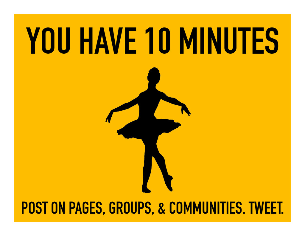 YOU HAVE 10 MINUTES POST ON PAGES, GROUPS, & CO...