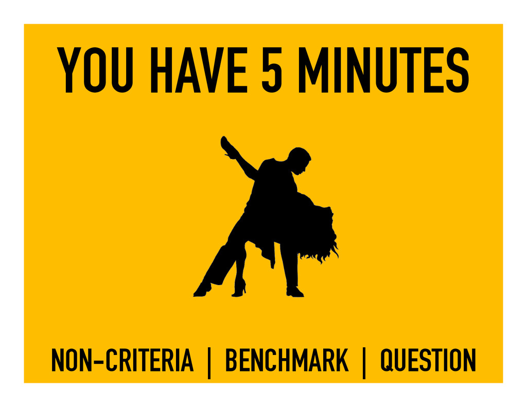 YOU HAVE 5 MINUTES NON-CRITERIA | BENCHMARK | Q...