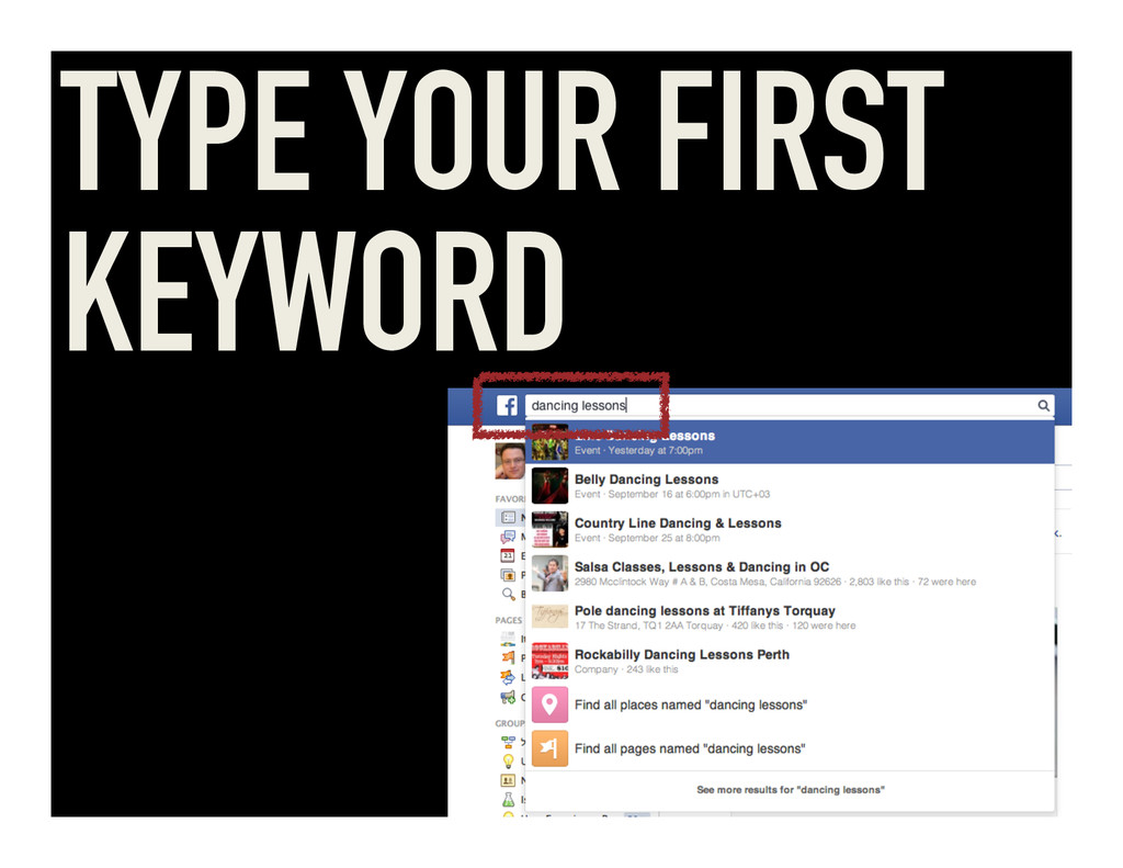 TYPE YOUR FIRST KEYWORD