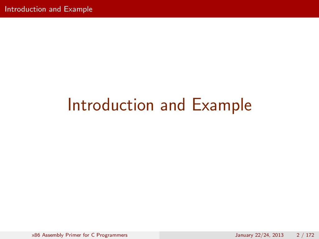 Introduction and Example Introduction and Examp...