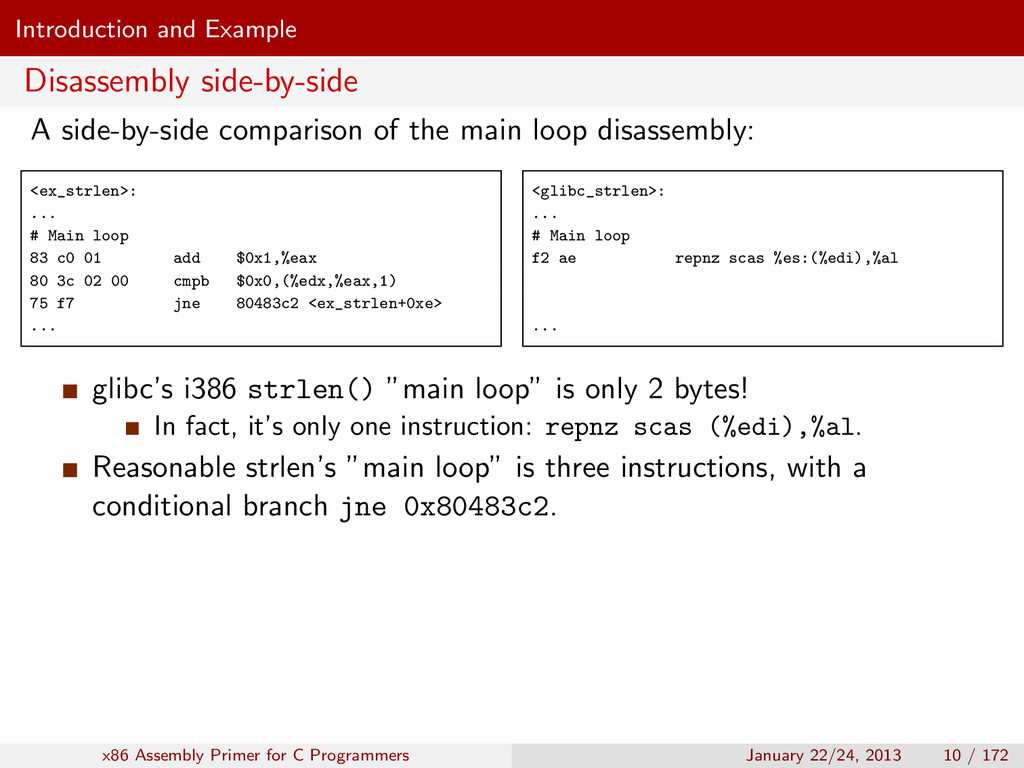Introduction and Example Disassembly side-by-si...