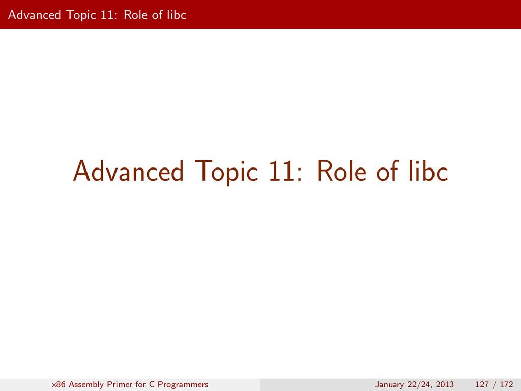 Advanced Topic 11: Role of libc Advanced Topic ...