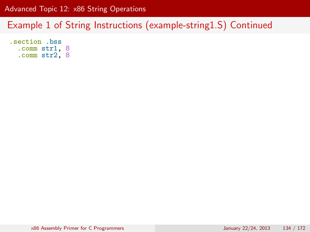 Advanced Topic 12: x86 String Operations Exampl...