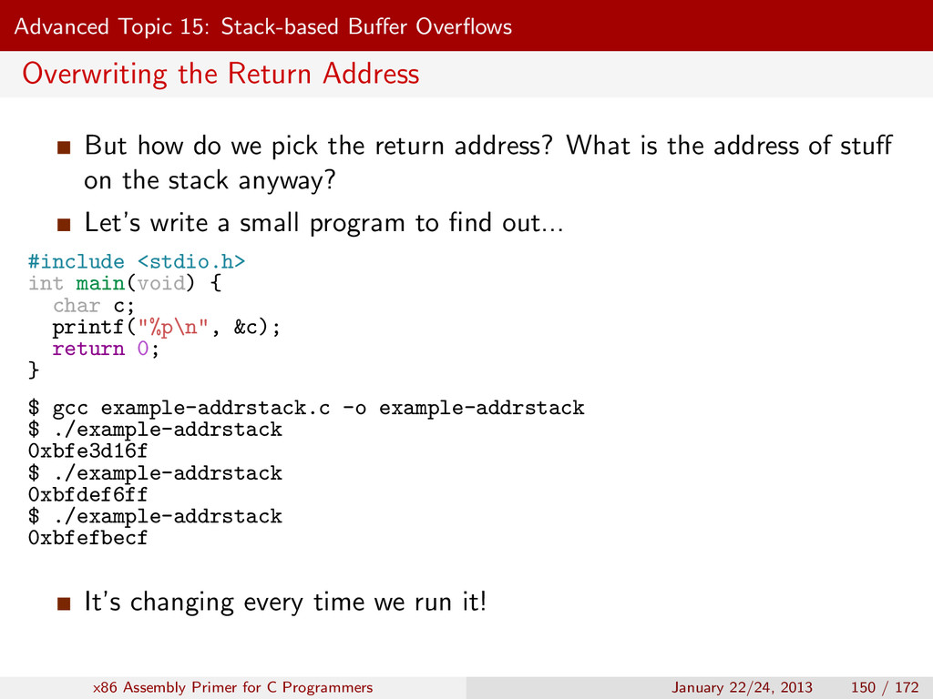 Advanced Topic 15: Stack-based Buffer Overflows O...