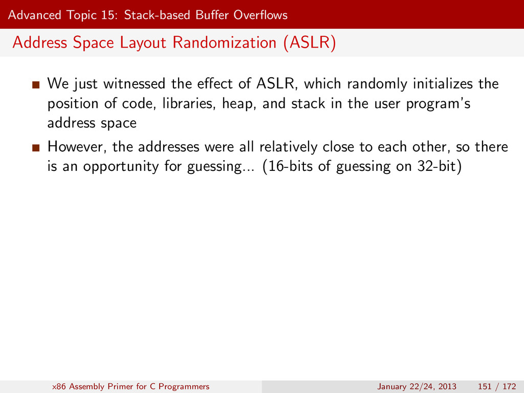 Advanced Topic 15: Stack-based Buffer Overflows A...