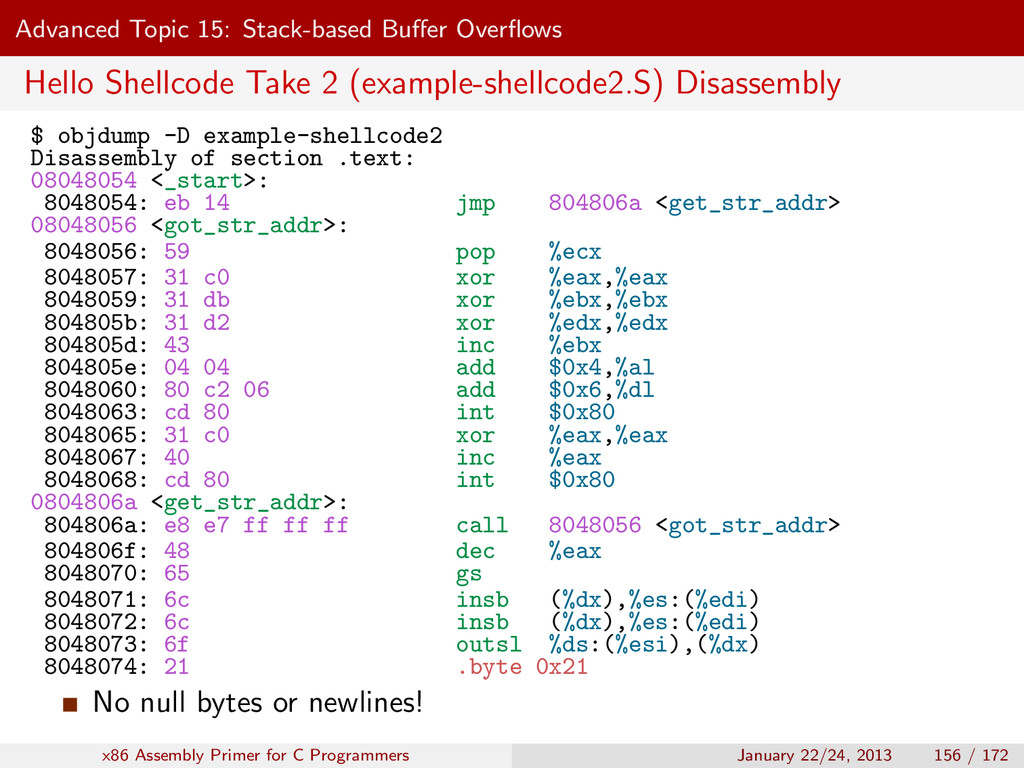 Advanced Topic 15: Stack-based Buffer Overflows H...