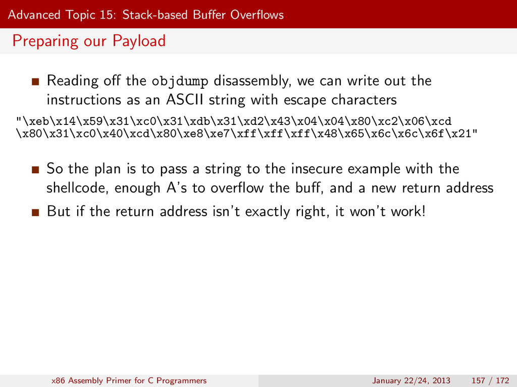 Advanced Topic 15: Stack-based Buffer Overflows P...