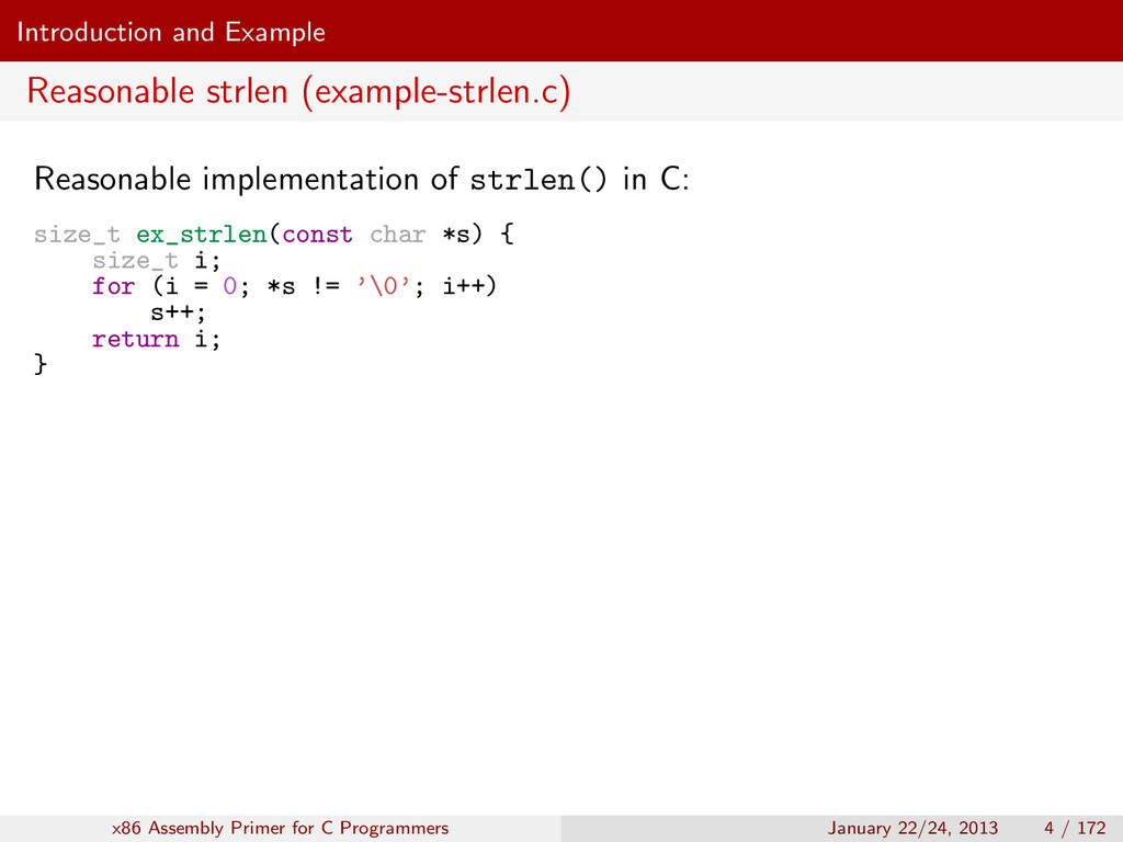Introduction and Example Reasonable strlen (exa...
