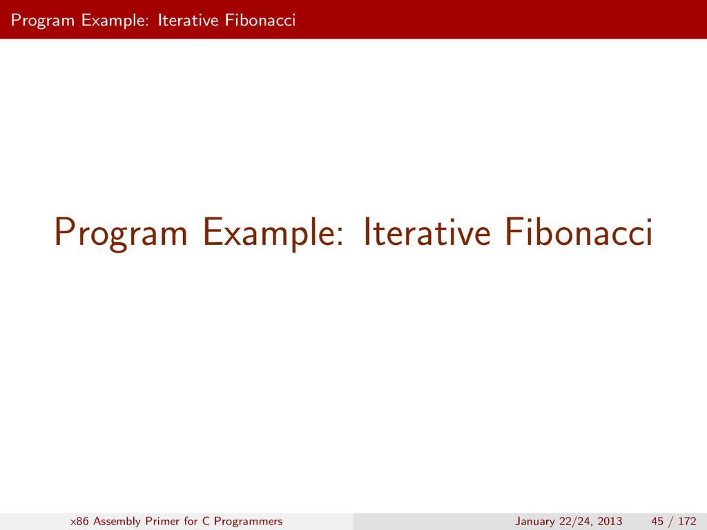 Program Example: Iterative Fibonacci Program Ex...