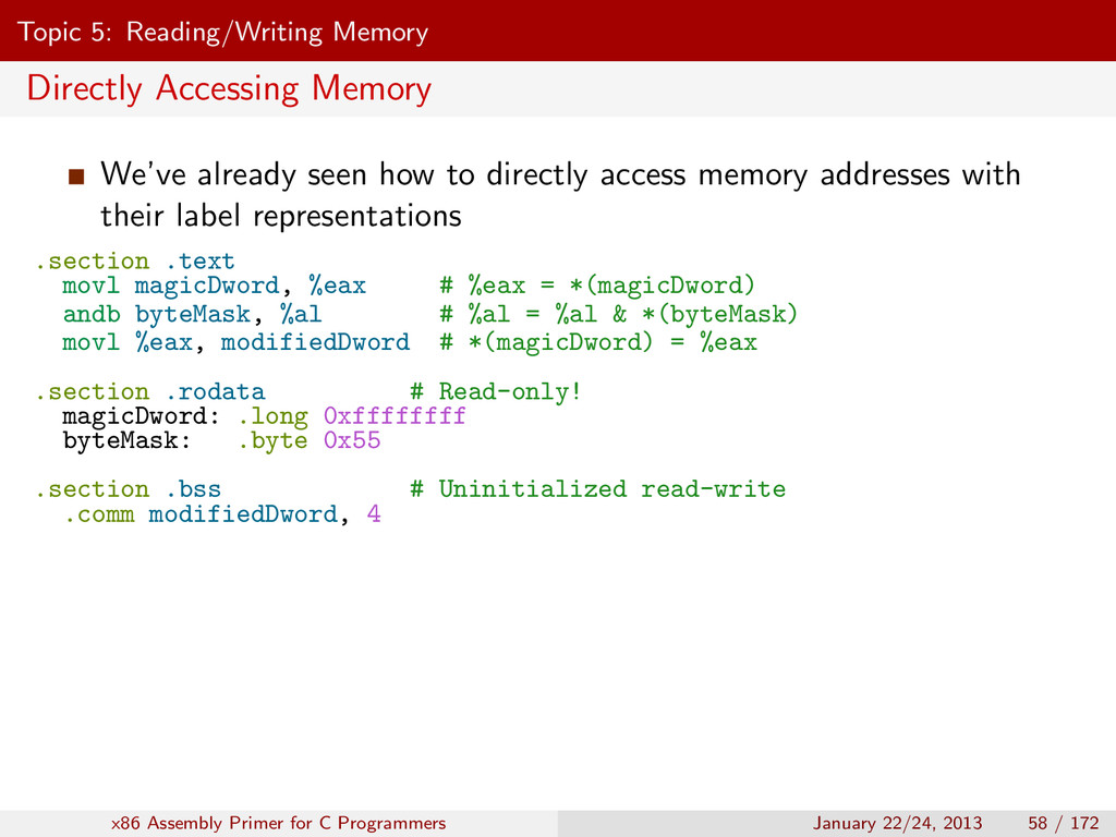 Topic 5: Reading/Writing Memory Directly Access...