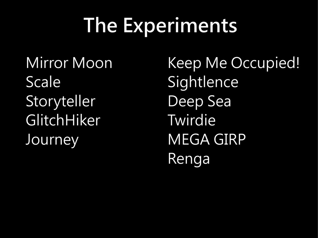 The Experiments Mirror Moon Scale Storyteller G...